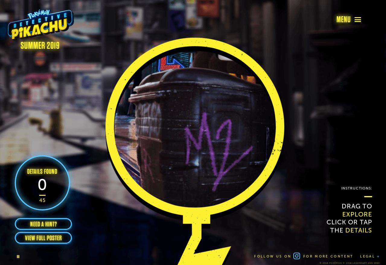 Detective Pikachu Website